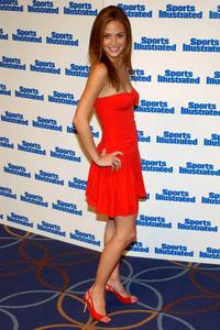 Josie Maran at the unveiling of 2002 Sports Illustrated Swimsuit edition.