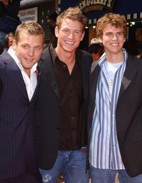 Lex Shrapnel, Philip Winchester and Ben Torgerson at the UK premiere of