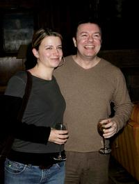 Ricky Gervais and Jane Fallon at the Celebrity Screening of