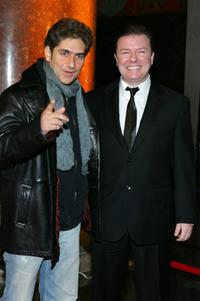 Ricky Gervaisand Michael Imperioli at the premiere of