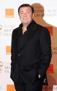 Ricky Gervais at the Orange British Academy Film Awards.