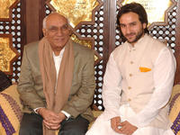 Director Yash Chopra and Saif Ali Khan at the Marrakesh International Film Festival.