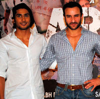 Prateik Babbar and Saif Ali Khan at the press conference of