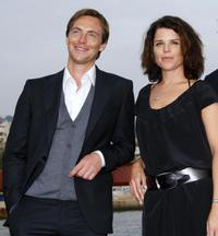 Stephen Campbell Moore and Neve Campell at the photocall of