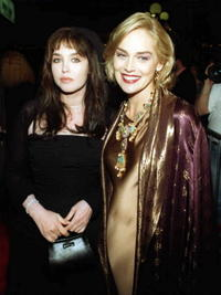 Isabelle Adjani and Sharon Stone at the premiere of