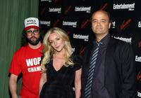 Judah Friedlander, Jane Krakowski and Scott Adsit at the Entertainment Weekly and Vavoom Annual upfront party.