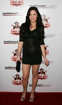 Christa Campbell at the Matt Leinart Foundation Celebrity Bowling Event.