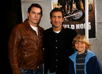 Ray Liotta, producer Michael Tollin and Shane Baumel at the premiere of