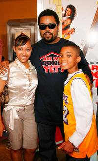 Aleisha Allen, Ice Cube and Philip Daniel Bolden at the premiere of