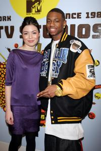 Miranda Cosgrove and Soulja Boy at the MTV's Total Request Live.