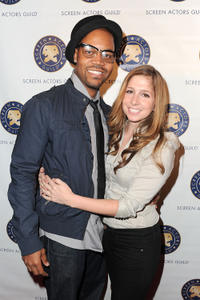 Michael Anthony Spady and Shoshannah Stern at the premiere of