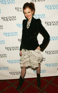 "Eva Green at the ""Kingdom Of Heaven"" premiere in New York City."