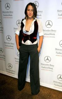Zelda Williams at the Mercedes Benz Fashion Week.