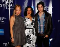 Emma Caulfield, Jac Schaeffer and John Patrick Amedori at the premiere of