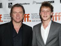 Erik Thomson and George MacKay at the screening of