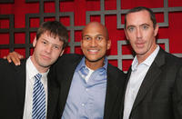 Ike Barinholtz, Keegan-Michael Key and Michael McDonald at the FOX Broadcasting Company Upfront in New York.