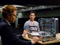 Keanu Reeves as Klaatu and David Richmond-Peck as polygraph operator in