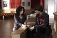 Arsinee Khanjian as Sabine and Devon Bostwick as Simon in