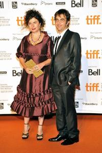 Arsinee Khanjian and Atom Egoyan at the Toronto International Film Festival opening night party.