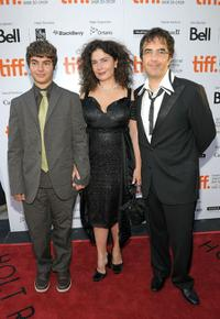 Arshile Egoyan, Arsinee Khanjian and Atom Egoyan at the screening of