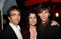 Atom Egoyan, Arsinee Khanjian and Devon Bostick at the 2008 Toronto International Film Festival.