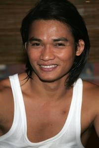 Tony Jaa at the Wat Gym to promote