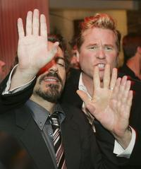 Val Kilmer and Robert Downey Jr at the afterparty for the premiere of