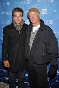 Chris Pine and father Robert Pine at the premiere of