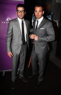 Zachary Quinto and Chris Pine at the premiere of