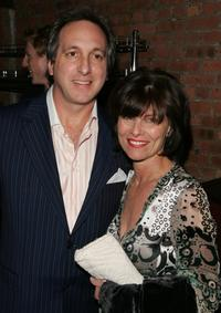 Adrienne Barbeau and her husband at the after party for the opening night of