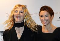 Sandrine Kiberlain and Aura Atika at the 35th Cesars French Film Awards.