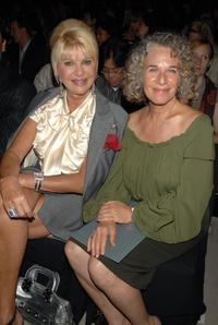 Ivana Trump and Carole King at the Zac Posen 2008 Fashion Show during the Mercedes-Benz Fashion Week Spring 2008.