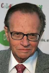 Larry King at the opening of