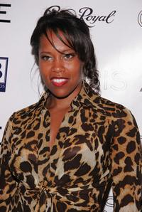 Regina King at the Olympus Fashion Week, attends the Chris