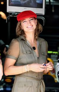 Zoe Bell at the European Grand Prix.