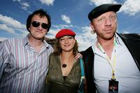 Director Quentin Tarantino, Zoe Bell and Boris Becker at the European Grand Prix.