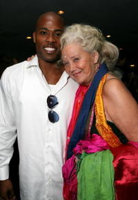 Sally Kirkland and Will Holman at the after party for the premiere of