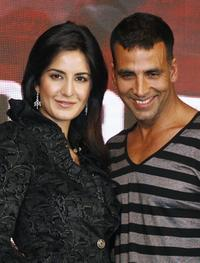 Katrina Kaif and Akshay Kumar at the promotion of