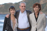 Veronica Sanchez, Director Jaime Chavarri and Oscar Jaenada at the photocall of