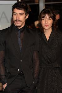 Oscar Jaenada and Barbara Goenaga at the Goya Cinema Awards 2006.