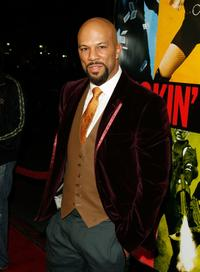 Common at the world premiere of