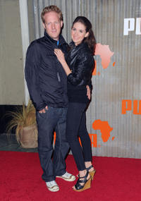 David Sullivan and Alison Brie at the African Bazaar presented by Puma.