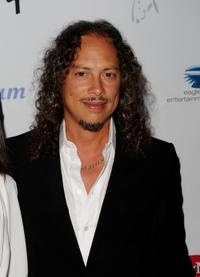 Kirk Hammett at the Les Paul's 95th Birthday party.
