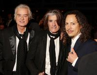 Jimmy Page, Joe Perry and Kirk Hammett at the 24th Annual Rock and Roll Hall of Fame Induction Ceremony.