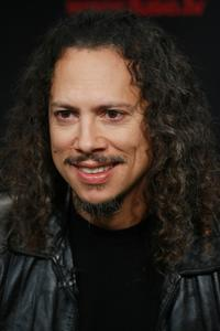 Kirk Hammett at the Rock and Roll Hall of Fame 2009 inductee announcement.