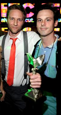 Director Alex Holdridge and Scoot McNairy at the 24th Annual Film Independent's Spirit Awards celebration.