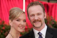 Morgan Spurlock and wife Alexandra Jamieson at the 77th Annual Academy Awards.