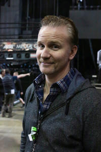 Director Morgan Spurlock on the set of