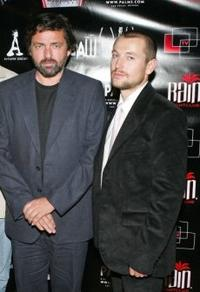Angus Macfadyen and Leigh Whannell at the soundtrack release party of