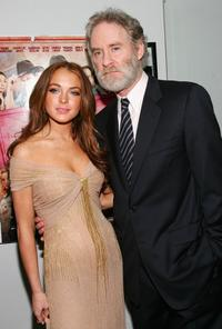Kevin Kline and Lindsay Lohan at the premiere of